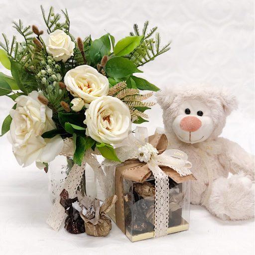 Bear and Rose Love Bundle Chocolates